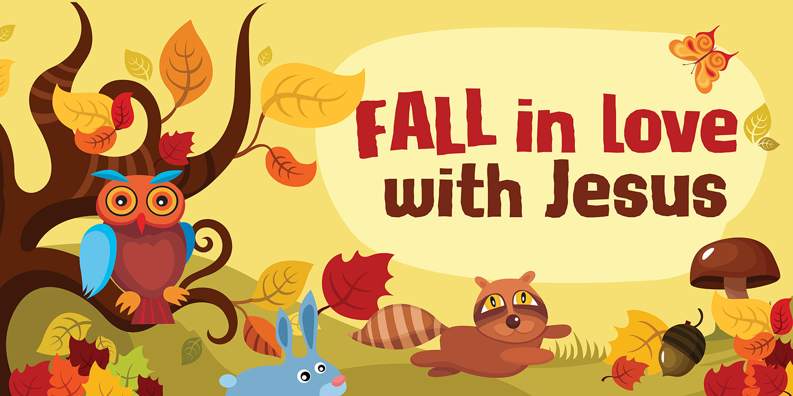 Fall In Love With Jesus Fall Banner Compel Graphics Amp Printing