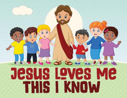 Jesus Loves The Little Children Banner Compel Graphics