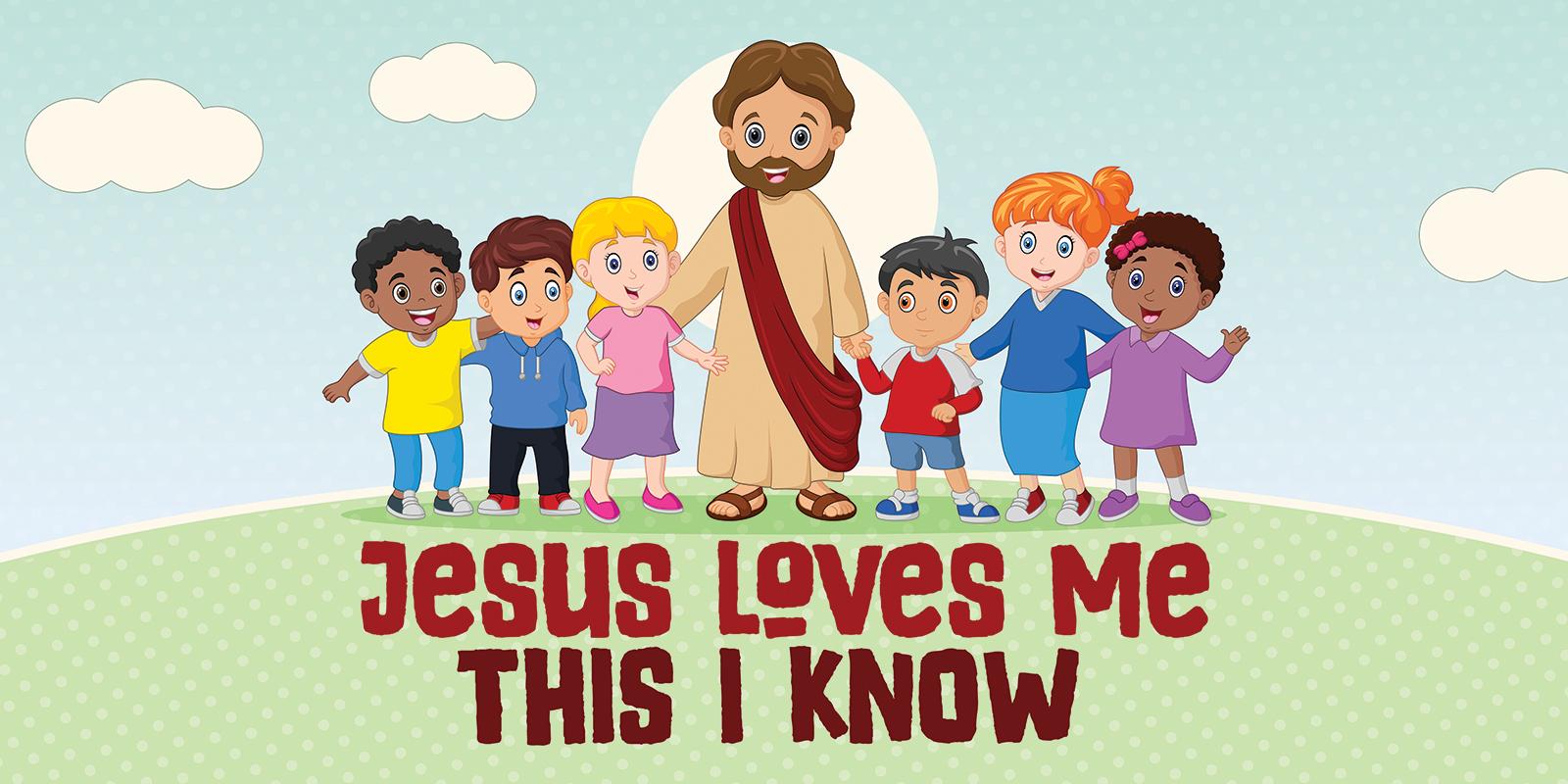 Jesus Loves Me Banner Compel Graphics Amp Printing
